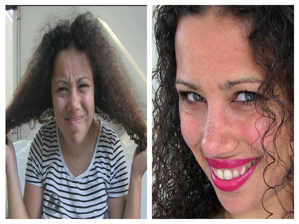 natuurlijk haarmasker voor krullend haar