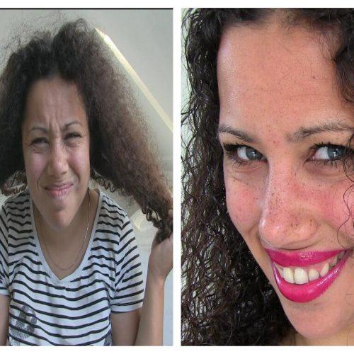 DIY natuurlijk haarmasker voor krullend haar