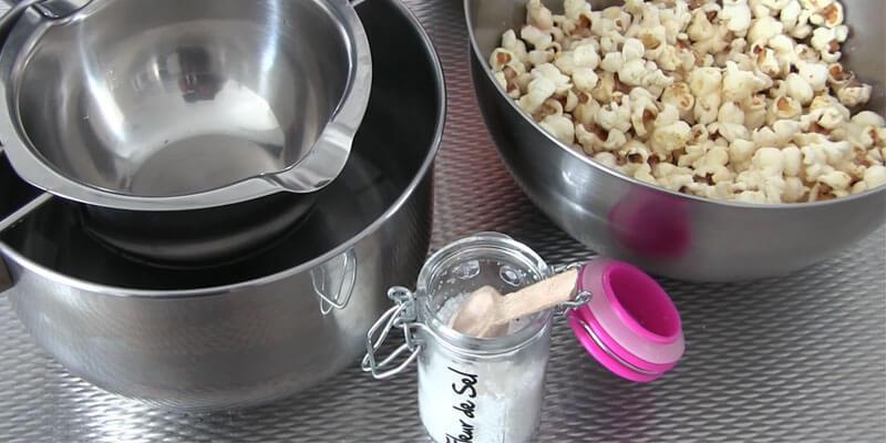Zoute popcorn maken