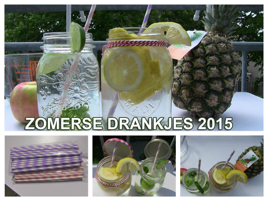 zomerse drankjes collage